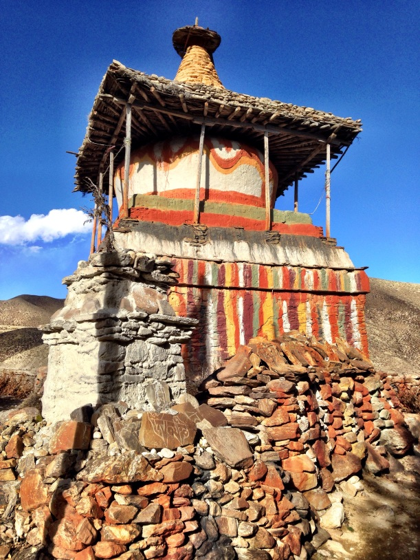 A ghompa or small Buddhist temple