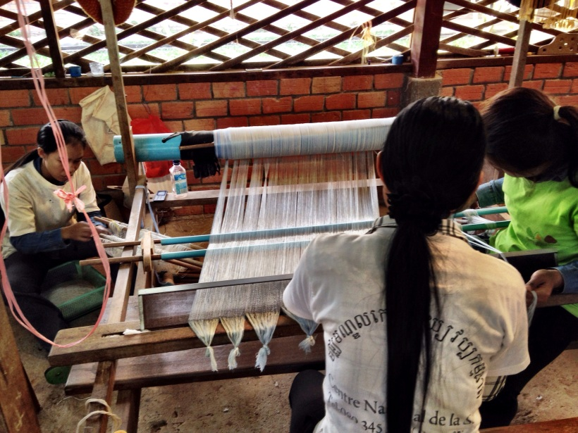 It takes a lot of work to prepare the loom