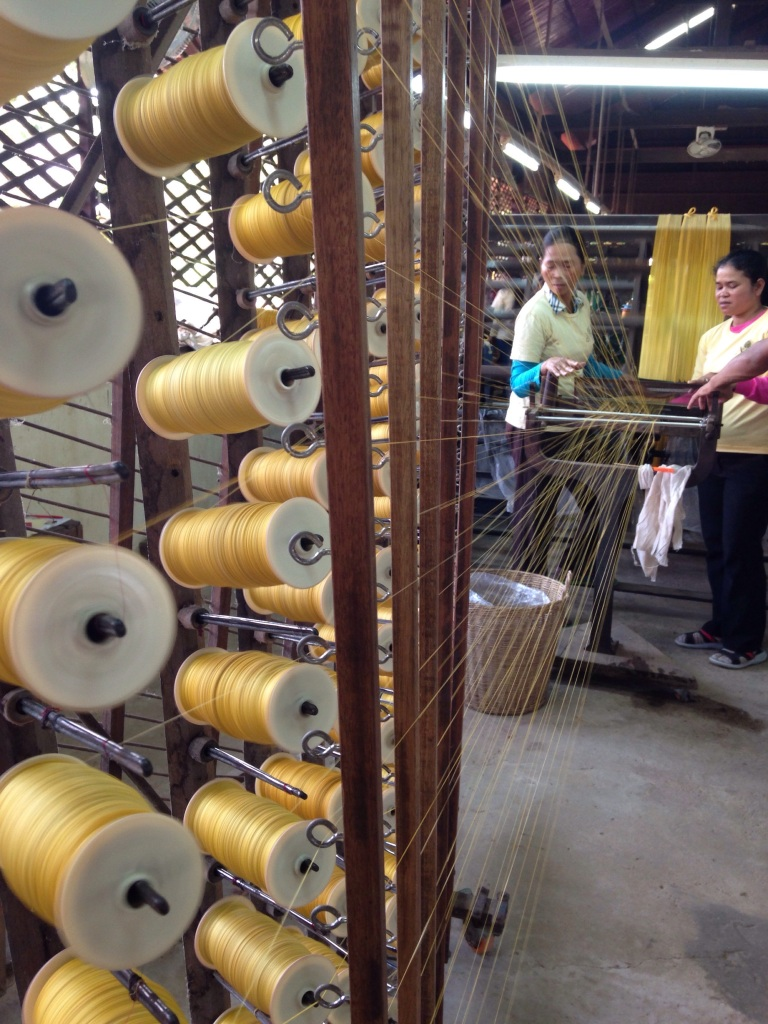The silk is called raw if it is more course, fine silk is smoother and takes more work to produce.