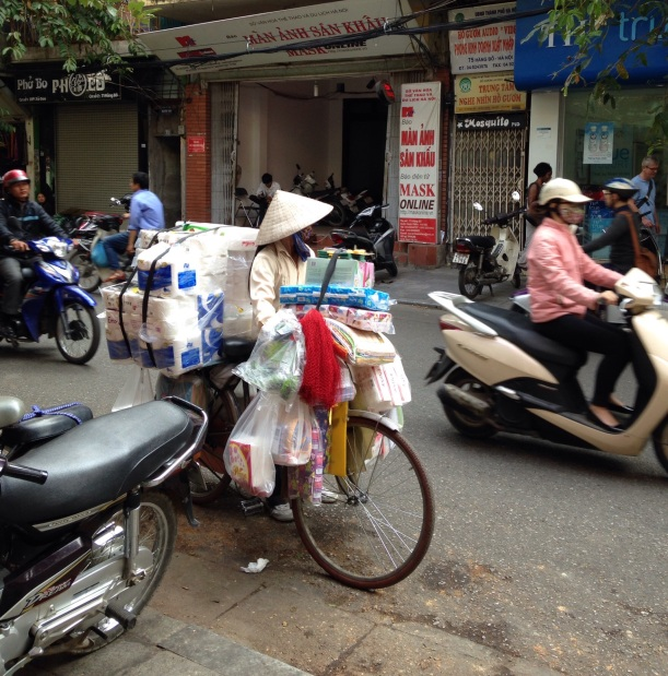 You can find everything for sale on the streets of Hanoi.