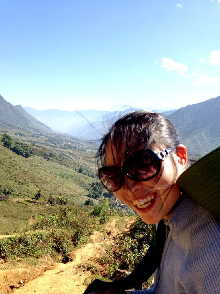 Giang taking a break during our gorgeous hike