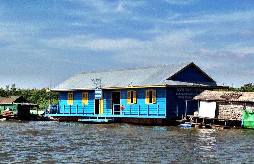 A floating school