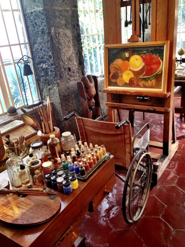 Frida's painting studio