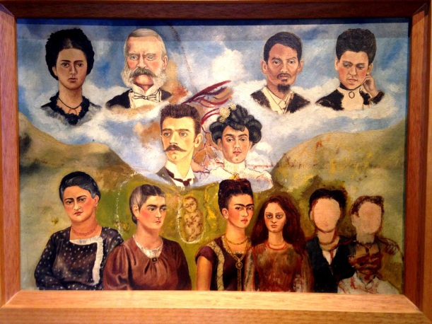 Frida passed before finishing this family portrait, she had two older sisters and one younger