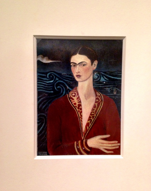 Frida's first self portrait painted in 1926 as a gift to her boyfriend Alejandro