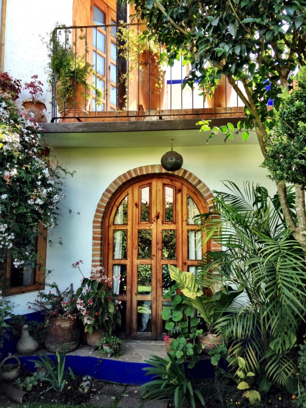 Where I stayed, how lucky to have my bedroom door open to our own garden. Many of the homes here have inner courtyards.