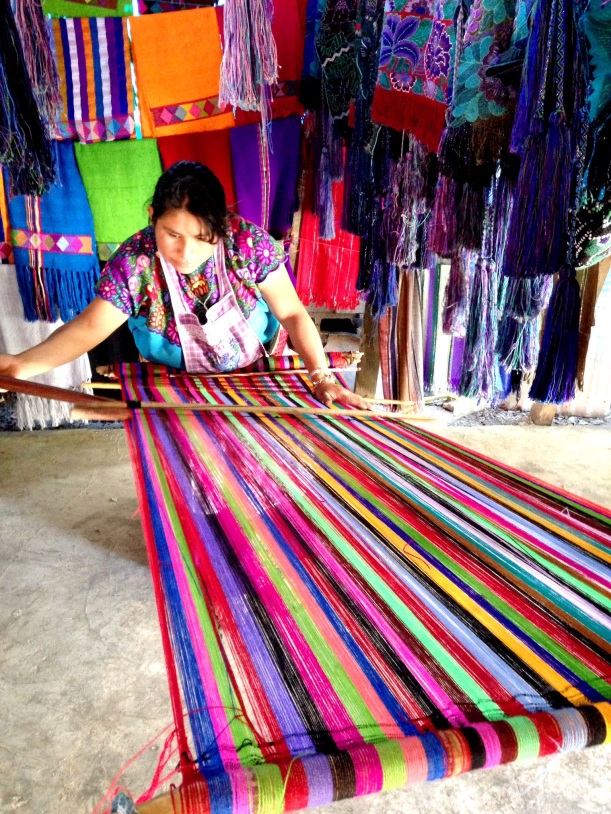 Visiting weavers in Zinacantan, the town that grows flowers